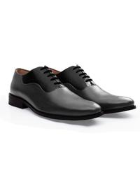 Gray and Black Premium Eyelet Wholecut Oxford alternate shoe image