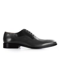 Gray and Black Premium Eyelet Wholecut Oxford main shoe image