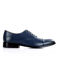 Dark Blue Premium Toecap Oxford shoe image