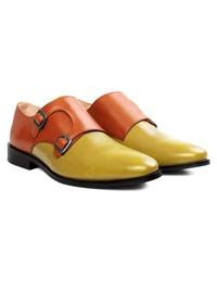 Tan and Beige Premium Double Strap Monk alternate shoe image
