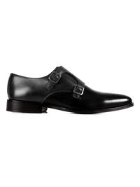 Gray and Black Premium Double Strap Monk main shoe image