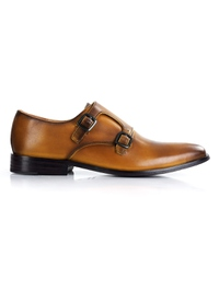 Yellow Premium Double Strap Monk shoe image