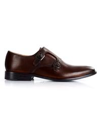 Dark Brown Premium Double Strap Monk shoe image
