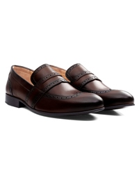 Dark Brown Premium Wingcap Slipon alternate shoe image