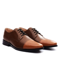 Coffee Brown and Tan Premium Toecap Derby alternate shoe image