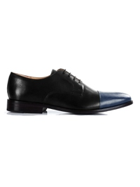 Black and Dark Blue Premium Toecap Derby main shoe image
