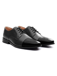 Gray and Black Premium Toecap Derby alternate shoe image