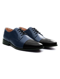 Dark Blue and Black Premium Toecap Derby alternate shoe image