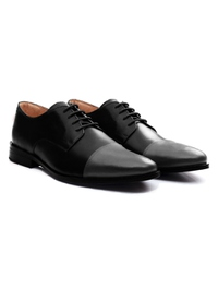 Black and Gray Premium Toecap Derby alternate shoe image