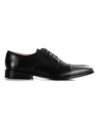 Black and Gray Premium Toecap Derby main shoe image