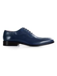 Dark Blue Premium Eyelet Wholecut Oxford main shoe image