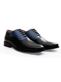 Black and Dark Blue Premium Eyelet Wholecut Oxford alternate shoe image