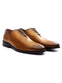 Yellow Premium Wholecut Oxford alternate shoe image