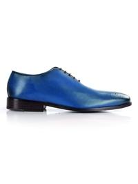 Dark Blue Premium Wholecut Oxford shoe image