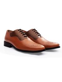 Tan and Coffee Brown Premium Eyelet Wholecut Oxford alternate shoe image