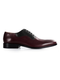 Burgundy and Black Premium Eyelet Wholecut Oxford main shoe image