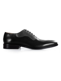 Black and Gray Premium Eyelet Wholecut Oxford main shoe image