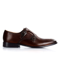 Dark Brown Premium Double Strap Monk shoe image