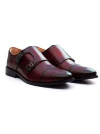 Oxblood Premium Double Strap Toecap Monk alternate shoe image
