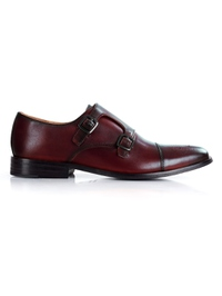 Oxblood Premium Double Strap Toecap Monk main shoe image