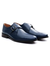 Dark Blue Premium Single Strap Monk alternate shoe image