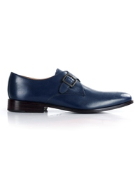 Dark Blue Premium Single Strap Monk main shoe image