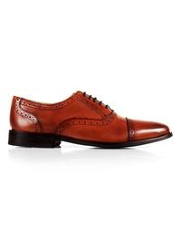 Lighttan Premium Half Brogue Oxford main shoe image