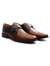 Brown and Coffee Brown Premium Single Strap Monk alternate shoe image