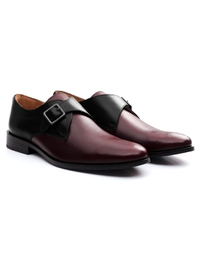 Black and Burgundy Premium Single Strap Monk alternate shoe image