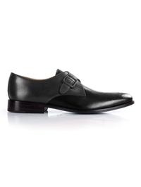 Gray and Black Premium Single Strap Monk shoe image
