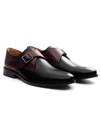 Burgundy and Black Premium Single Strap Monk alternate shoe image
