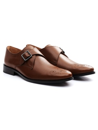 Coffee Brown Premium Single Strap Monk alternate shoe image