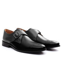 Gray and Black Premium Single Strap Monk alternate shoe image