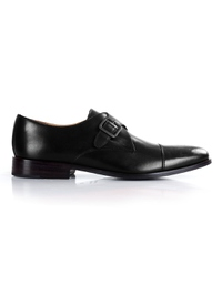 Black Premium Single Strap Toecap Monk shoe image