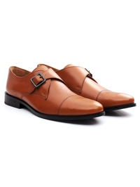 Tan Premium Single Strap Toecap Monk alternate shoe image