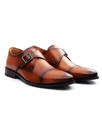Lighttan Premium Single Strap Toecap Monk alternate shoe image