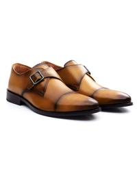 Yellow Premium Single Strap Toecap Monk alternate shoe image