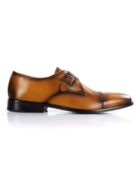 Yellow Premium Single Strap Toecap Monk shoe image