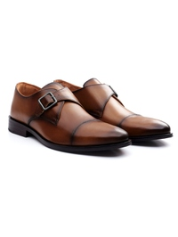 Coffee Brown Premium Single Strap Toecap Monk alternate shoe image