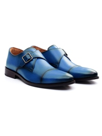Dark Blue Premium Single Strap Toecap Monk alternate shoe image