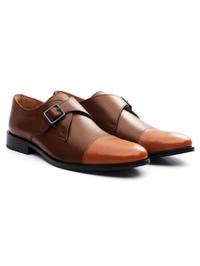 Coffee Brown and Tan Premium Single Strap Toecap Monk alternate shoe image