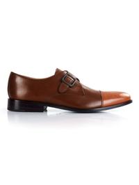 Coffee Brown and Tan Premium Single Strap Toecap Monk main shoe image