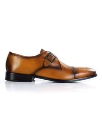 Yellow Premium Single Strap Toecap Monk shoe image