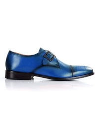 Dark Blue Premium Single Strap Toecap Monk main shoe image