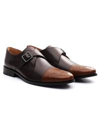 Brown and Coffee Brown Premium Single Strap Toecap Monk alternate shoe image