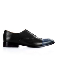 Black and Dark Blue Premium Toecap Oxford main shoe image