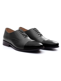 Gray and Black Premium Toecap Oxford alternate shoe image