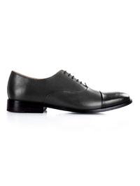 Gray and Black Premium Toecap Oxford main shoe image