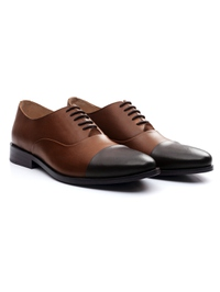 Coffee Brown and Brown Premium Toecap Oxford alternate shoe image