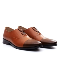 Tan and Coffee Brown Premium Toecap Oxford alternate shoe image